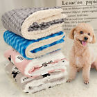 Washable Cozy Dog Cat Bed Cute Prints Reversible Fleece Cushion Crate Bed Mat