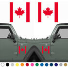 Set of 2 Canadian Flag LEFT RIGHT Side Sticker Decal MANY SIZES COLORS V2 $6.95 USD on eBay