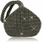 Mogor Women's Triangle Bling Glitter Purse Crown Box Clutch Evening Luxury Bags
