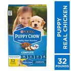 Purina Puppy Chow High Protein Dry Puppy Food, Complete With Real Chicken, 32