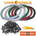 Lava Cable Tightrope DC POWER Kit Solder-Free BLACK RED BLUE WHITE GREEN Plugs