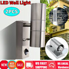 2Pcs LED Wall Light Up Down Indoor Outdoor Sconce Lighting Lamp Light-Activated