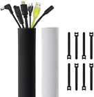 Kootek 118-Inch Cable Management Sleeves With Cable Ties, Neoprene Cable Organiz