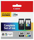 Canon PG260 CL261 Black Color Ink 260 261 TS5320 3725C006 TS5320 TS6420 TR7020