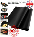 BBQ Grill Mat Non-Stick Teflon Sheet Reusable Barbecue Oven Liner Cooking! UK!