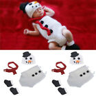 Newborn Christmas Photo Prop Winter Knitted Baby Hat Cocoon Set Photography