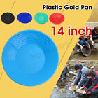 🇦🇺 Gold Pan 14 inch Black Plastic Gem Fossicking Panning Prospecting A