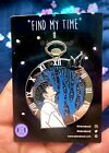 "Jungkook ""My Time"" & ""Black Swan"" Pocket Watch Glitter Enamel Pin BTS image"