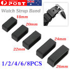 1/2/4/6/8 Silicone Rubber Watch Strap Band Keeper Holder Hoop Loop Ring Retainer