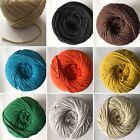 All Colours 3/5/10 Metres Twisted Cotton Cord, Macrame Crafts, Jewellery, Thread