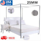 4 Corner Bed Canopy Stainless Steel Frame Post Bracket Mosquito Netting Curtain image