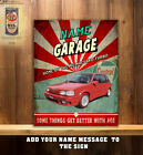 Personalised Mg Maestro Turbo Garage Workshop Shed Vintage Wall Sign Gift Cs36
