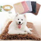 Soft Pet Dog Cat Bed Fleece Crate Bed Mat Machine Washable Cushion Pet Bed Liner