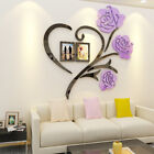 US Family Love Rose Wall Decals 3D DIY Photo Frame Wall Sticker Mural Home Decor