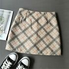 Suitable Autumn Winter Woolen Plaid Skirt New Women High Waist Sexy Slim A Line