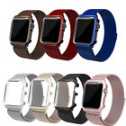 Magnetic Milanese Stainless Steel Band & Case For Apple Watch Series 5 4 3 2 1 image