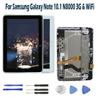 For Samsung Galaxy Note 10.1 N8000 3G & WiFi LCD Display Touch Screen Frame RHN