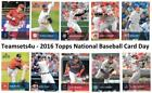 Внешний вид - 2016 Topps National Baseball Card Day Set ** Pick Your Team ** Read Checklist **
