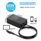 15V 4A 65W AC Charger Adapter For Microsoft Surface Book Pro Laptop Power Supply