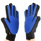 Cat Grooming Deshedding Brush Glove Touch Pet Dog Gentle Efficient Back Massage