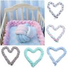 Infant Crib Baby Bed Bumper Bedding Knot Cushion Protector Fence Photography