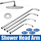 "12/16/20/24"" Shower Head Arm Water Extension Pipes Mount Wall Stainless"