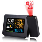 LED Digital Projector Projection Alarm Clock Temperature Calendar Weather Snooze