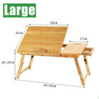 Portable Laptop Desk Folding Foldable Lap Tray Bed Adjustable Table Stand Bamboo