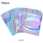 100Pcs Holographic Rainbow Laser Double-Sided Small Mylar Foil Bags