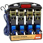 Ratchet Tie Down Cargo Straps 4 Pac 15 Ft 500 Lbs Load Capacity Motorcycles