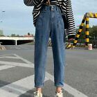 High Waist Denim Jeans For Women Retro Boyfriend Style Loose Ankle Length Pants