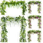 2x 7ft Artificial Wisteria Vine Garland Plants Foliage Flower Home Party Decor