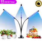 Grow Light for Indoor Plants Tri-Head 30W LED Plant Light for Small Plant Veg BT