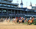 Authentic 2020 Kentucky Derby First Turn Photo 8' x 10 - 24' x 30'