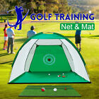 2M Golf Training Net Hitting Target Cage Practice Driving Trainer Aid Mat Balls