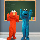 Adults Sesame Street Blue Cookie Monster Mascot and Elmo Mascot Costume