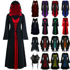 Womens Medieval Long Sleeve Fancy Dress Gothic Halloween Witch Cosplay Costume