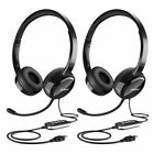 Mpow 071 Headset USB/3.5mm Jack Computer Wired Headphones for PC Skype Phone