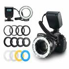 Emiral Macro Led Ring Flash Light with 48leds, LCD Display, Adapter Rings and