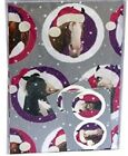 Festive Pucker Up Funny Horse Santa Hat Silver Christmas Gift wrap and tags