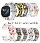 For Fitbit Versa /versa 2 Printed Silicone Smart Watch Replacement Band Strap