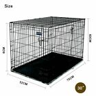 """Pet Dog Cage Crate Kennel Cat Collapsible Metal Cages 30""""~ 48"""" Playpen"""