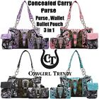 Camouflage Buckle Concealed Carry Purse Handbag Women Shoulder Bag Wallet Pouch