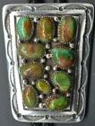 Exceptional Vintage Navajo Sterling and Royston Turquoise Cluster Bolo Tie