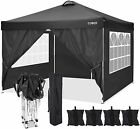 """Pop Up Canopy 10""""x10""""Foldable Waterproof Oxford Cloth Awning Tent with wind hole"""