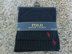 Polo RALPH LAUREN Knit Scarf and Beanie Hat Set in Gray or Blue