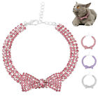 Bling Rhinestone Dog Cat Necklace Cute Bow Diamante Collar for Small Puppy Dogs