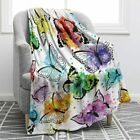Jekeno Butterfly Throw Blanket Smooth Lightweight Soft Print Blanket for Travell