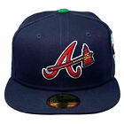 New Era Men's Atlanta Braves MLB Offset Migos 59Fifty Fitted Hat Navy Blue He