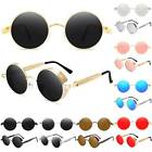Vintage Retro Steampunk Sunglasses Goggles Classic Round Mirror Eyewear Glass US